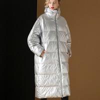 de45651a070550 2019 European Loose Plus Size White Goose Down Winter Jacket Women Double  Sides Can Wear Long