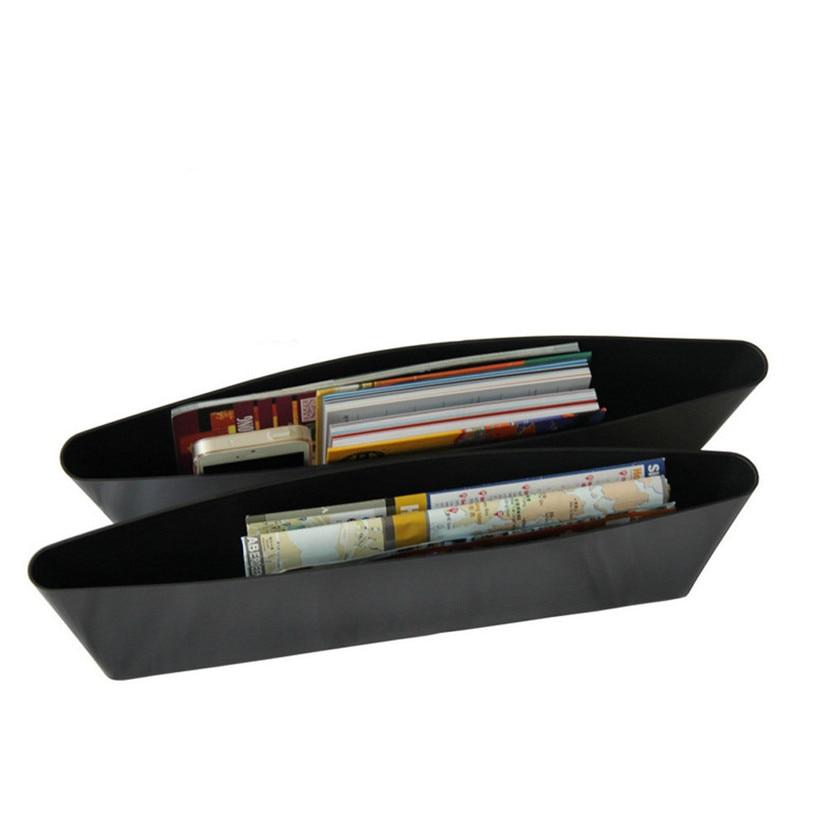 KAKUDER Stowing Tidying 2 Pcs Car Seat Slit Pocket Leather Catcher Seat Gap Storage Organizer Box dd726 dropship