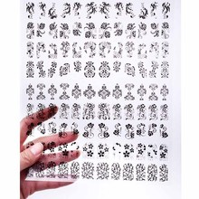 Manicure 3D Nail sticker DIY Stickers & Decals Carapace Pet Sticker 3 kinds of black Mixed wholesale