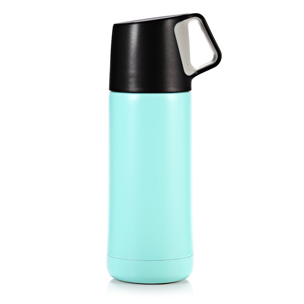 New Arrival Just Life J - 02088 350ML Portable Stainless Steel Water Bottle with Handle Vacuum <font><b>Insulated</b></font> <font><b>Cup</b></font> With Light <font><b>Weight</b></font>
