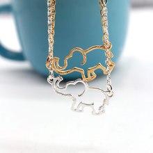 цена на New Creative Elephant Pendant Long Chain Necklace Women Hollow Animal Clavicle Statement Necklace Jewelry