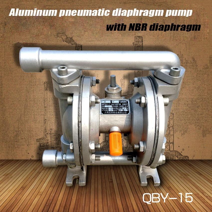 1pc QBY-15 Hot Sale 1/4inch 0-1m3/h Aluminum pneumatic diaphragm pump with NBR diaphragm original ingersoll rand model 666120 344 c aluminum alloy aro pneumatic diaphragm pump
