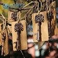 Neo 50 pcs/lot antiguo esqueleto de metal abrebotellas favor de la boda de la vendimia rústica decoración de la boda con escolta tarjeta de etiqueta