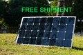 Solarparts 1 unids 100 w flexible pv panel solar 12 v célula solar/módulo/sistema rv/coche/barco sunpower cargador de batería led kit de luz