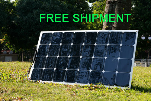 Solarparts 1PCS 100W flexible PV solar panel 12V solar cell module kit RV camper boat car