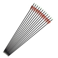 12pcs Spine 400 Carbon Arrow Archery For Compound Recurve Bow Hunting Shooting Target Practice Suitable For