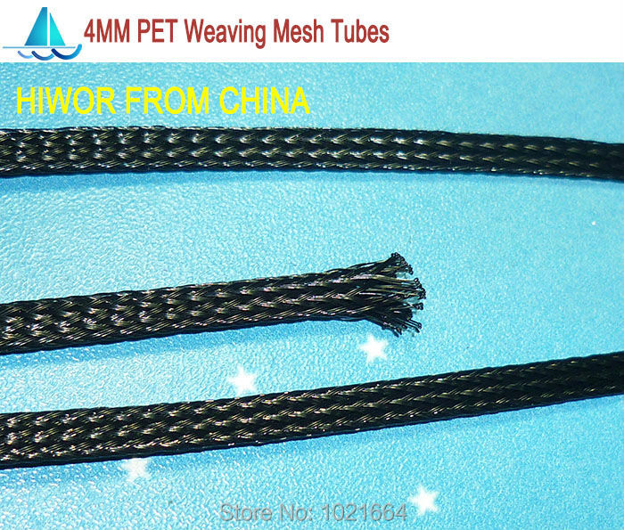 20meters/lot 4MM PET Weaving Mesh Tubes Network Tube Insulation Sleeving