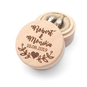 Image 5 - Custom Ring Box, Personalized Wedding / Valentines Engagement Wooden Ring Bearer Box, Rustic Wedding Ring Box Holder