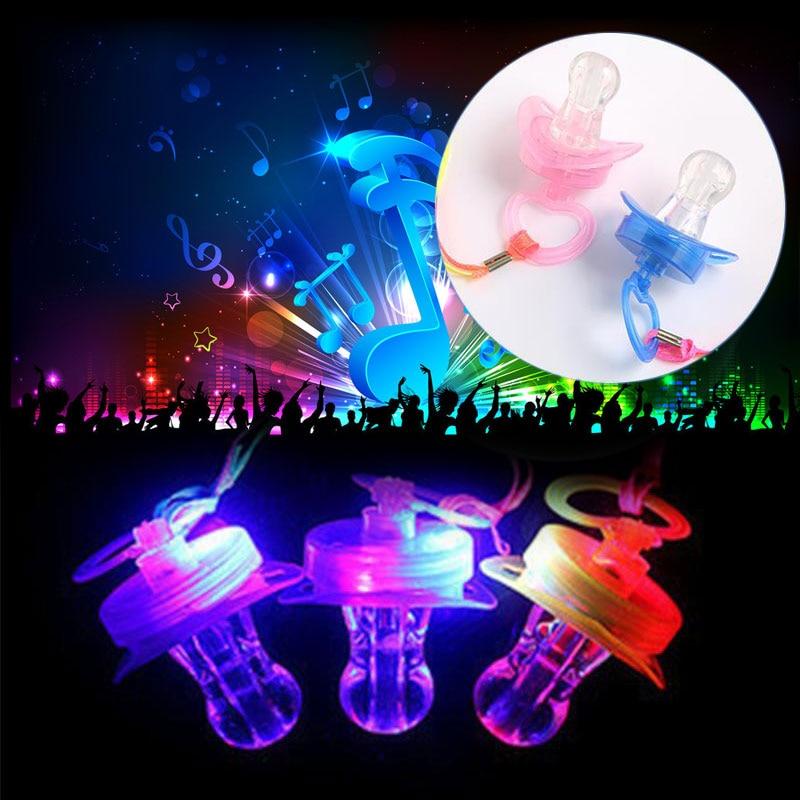 Светодиодный сосок светящиеся палочки светятся вечерние Соска-пустышка игрушка-свисток подарок веселье