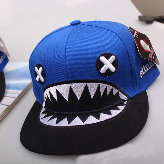 8d2cfb6bb55537 placeholder Korean fashion eye sharks snapback baseball cap custom cartoon  unisex running brand cap bone stinko .