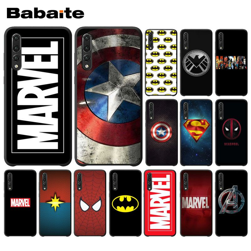 Babaite Marvel Comics logo Novelty Fundas Phone Case Cover for Huawei Mate10 Lite P20 Pro P9 P10 Plus Mate9 10 Honor 10 View 10 image