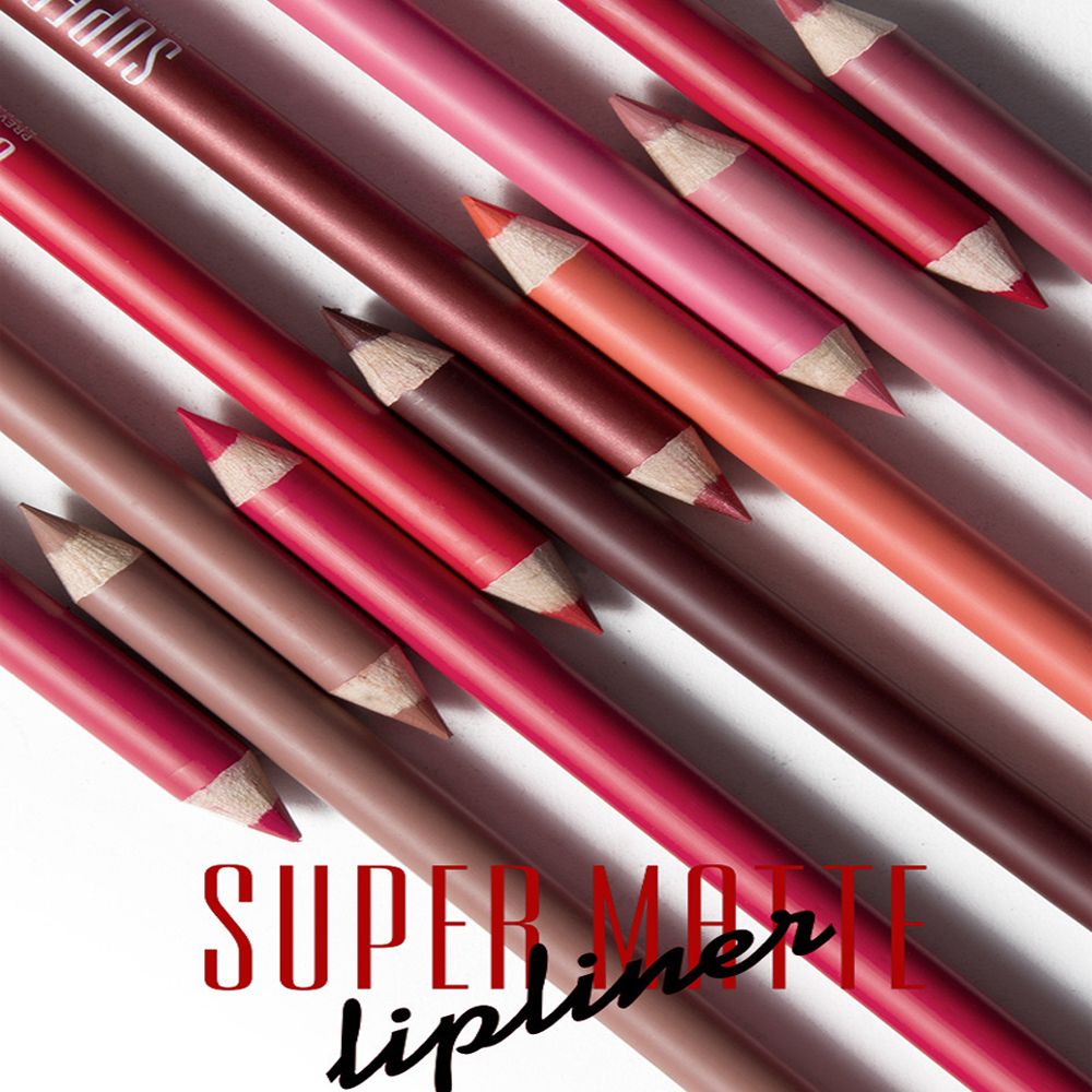 Lips Lip Liner Systematic 12pcs Kiss Proof Lip Liner Pencil Waterproof Long Lasting Natural Soft Matte Lipstick Pen Sexy Red Pink Wood Lip Pencil Mn057