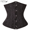SAYFUT S-6XL Sexy Women Lace Up Underbust Waist Trainer Corsets Black White Steampunk Corset Top Bustier Plus Size Corselet