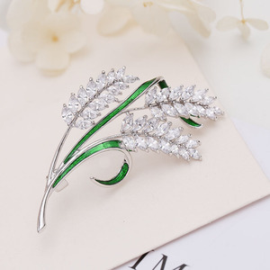 Image 2 - luxury jewelry accessory Korean jewelry colorful cubic zirconia tree branch leaves brooches pin fashion lady brooch HR03958
