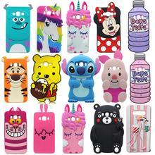 For Samsung Galaxy J5 J7 2016 / J510 J710 3D Cartoon Soft Silicone Case Cute Pretty Unicorn Animal Pig Phone Back Cover Skin цена