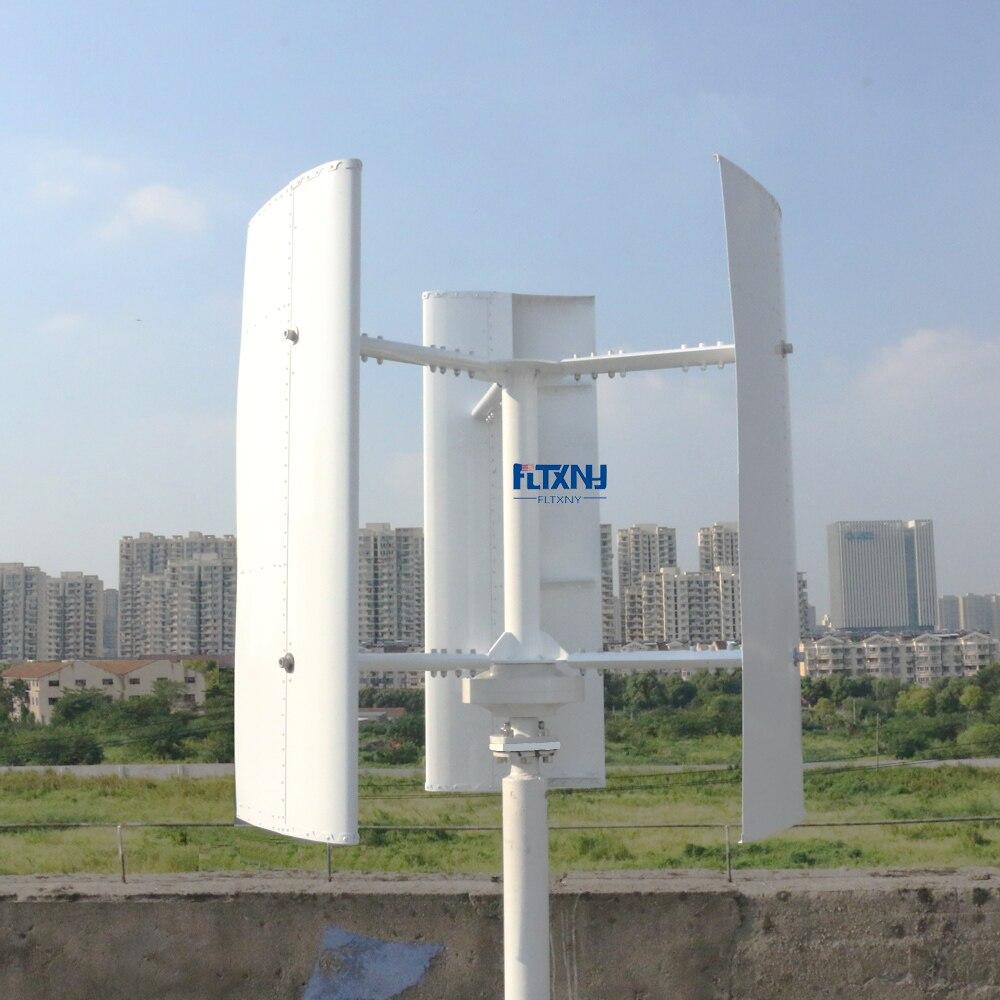 Nuovo Generatore di Turbina Verticale del Vento 600 w 12 v 24 v 48 v 3 Fasi Con 3 lame Progettato per casa o Lampione Progetti