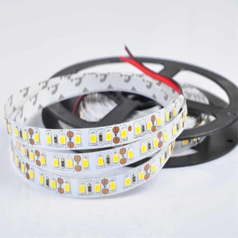 Lampu LED Tinggi CRI 90 Smd2835 Strip 8 Mm Lebar DC12/24 V 0.2 W/Chip 45 W Neutralwhite Nowaterproof IP20 Lebih Cerah WS2812 Lampu Neon
