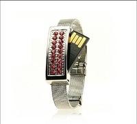 100pcs Lot Wristband Bracelet Crystal Usb2 0 Flash Drive 4GB 8GB 16GB 32GB 64GB Usb Stick