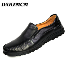 DXKZMCM brand men loafers comfortable Top quality Men Casual Shoes Men Genuine Leather Shoes