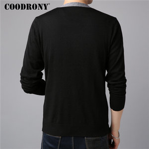 Image 4 - COODRONY Sweater Men Casual V Neck Cardigan Men Clothes 2018 Autumn Winter New Arrivals Knitted Cashmere Wool Mens Sweaters 8258