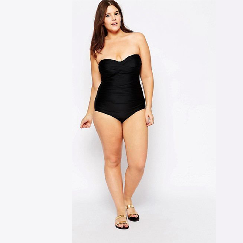 Swimwear Women Plus Size One Piece Swimsuit Sexy Strapless beachwear Female Bathing Suit Monokini Maillot De Bain Femme s123 hot women one piece swimwear women push up monokini maillot de bain bathing suit swimsuit plus size shorts bikinis beachwear