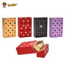 HONEYPUFF пластиковый чехол для сигарет, чехол для хранения обычных сигарет в стиле покера, пластиковый держатель для табака, коробка, портативный органайзер, инструмент