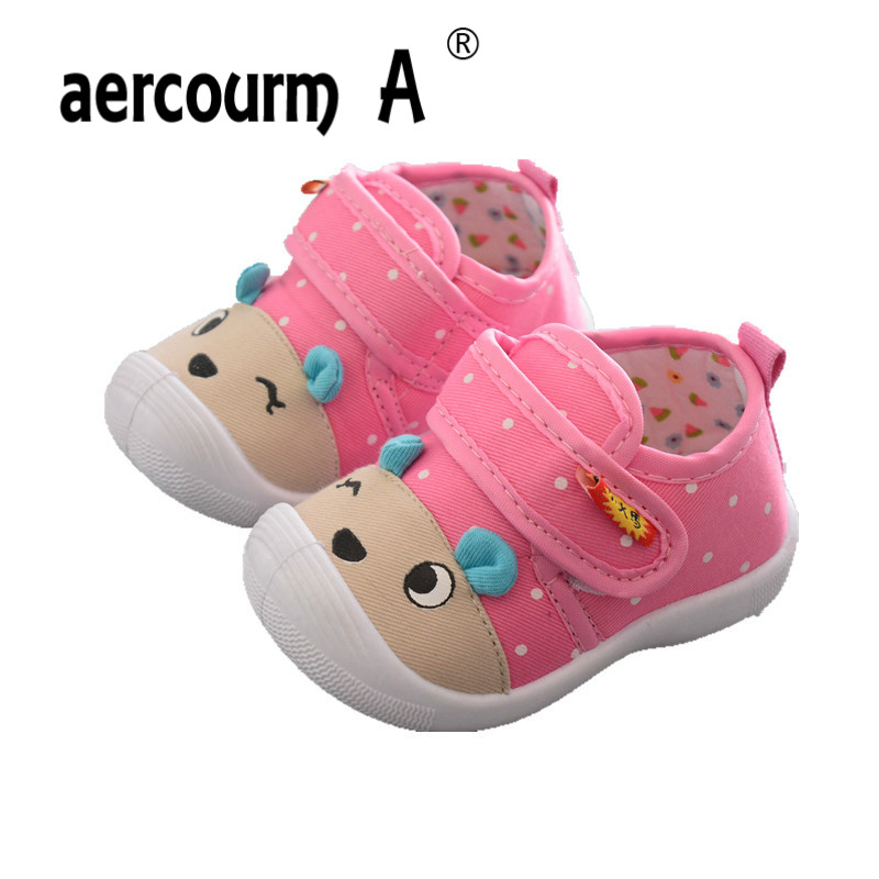 Aercourm A 2018 Spring Autumn Paragraph First Walkers 0-3 Years Baby Toddler Shoes Boys Girls Canvas Cartoon Breathable Shoes