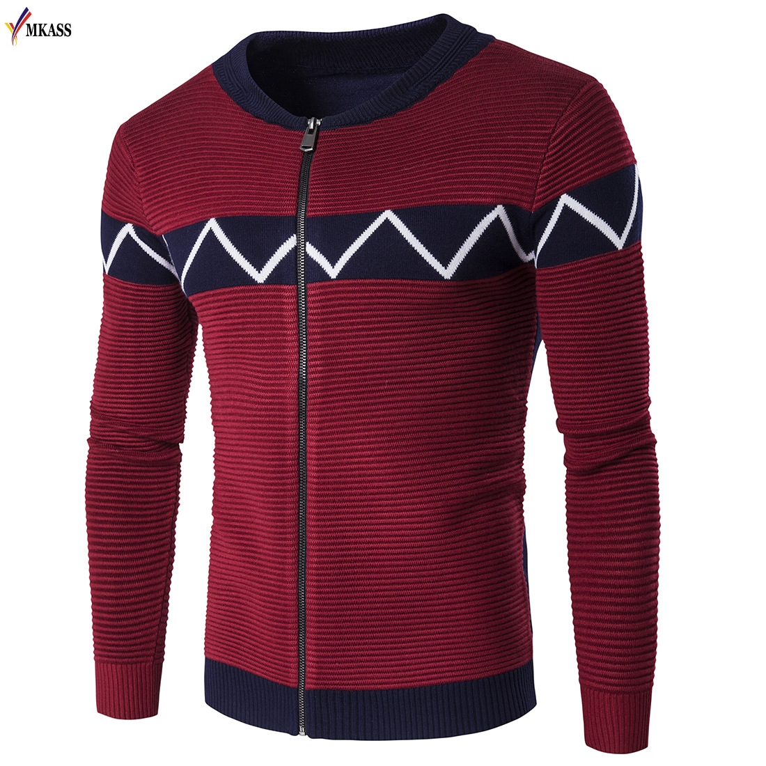 2017 New Mens Zipper Sweater Autumn Winter Cardigans Sweaters Knitwear Cardigan masculino Bblack Sweater Men christmas 2XL