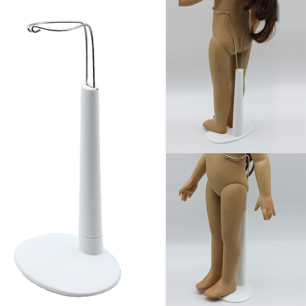 White 1 3 Scale C Type Display Stand Holder fit For 18 American Girls Dolls Free