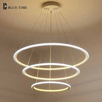 New Modern 3 Circle rings LED Pendant Lights For Living Room Dining room LED Lustre Pendant Lamp Hanging Ceiling luminaire - DISCOUNT ITEM  43% OFF All Category