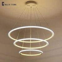 New Modern 3 Circle Rings LED Pendant Lights For Living Room Dining Room LED Lustre Pendant