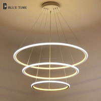 New Modern 3 Circle Rings LED Pendant Lights For Living Room Dining Room LED Lustre Pendant