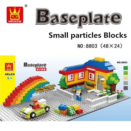цена на 1pcs/lot Big Blocks Base Plate 56*28 48*24 Baseplate 100% Compatible with Lepin Bela Kids Educational Brick Toys Blocks Plate