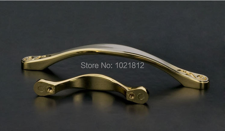 160mm Solid Cabinet Handle Kitchen Pull Wardrobe Bar Brushed Steel and Golden Drawer Pull Handle