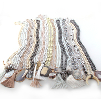 Wholesale Fashion 20pc Mix Color White/Beige/Gray Necklace Handmade Women Jewelry