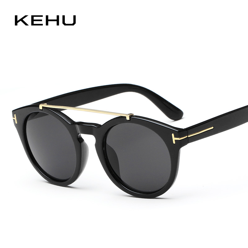 KEHU Fashion TOM Designer Sun Glasses Round Sunglasses Trend Sunglasses For Men And Women Qversized Eyewear Accessories K9613