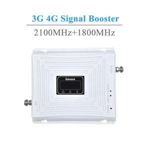 Image 2 - Lintratek 3G GSM 4G مكرر إشارة 4G LTE 1800 GSM 1800MHz 3G UMTS 2100Mhz LCD الهاتف المحمول إشارة الداعم مكبر للصوت مجموعة كاملة.