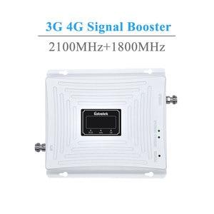 Image 2 - Lintratek 3g gsm 4g repetidor de sinal 4g lte 1800 gsm 1800 mhz 3g umts 2100 mhz lcd amplificador de reforço de sinal de telefone móvel kit completo.