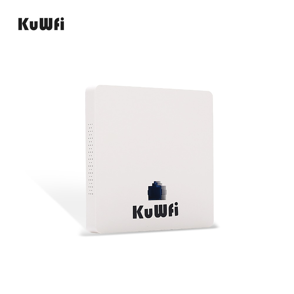 Image 2 - KuWFi 300Mbps Wireless Wifi Router Indoor In wall POE AP Router for Hotel/Dormitory/Hospital/Villa Support 20users-in Wireless Routers from Computer & Office