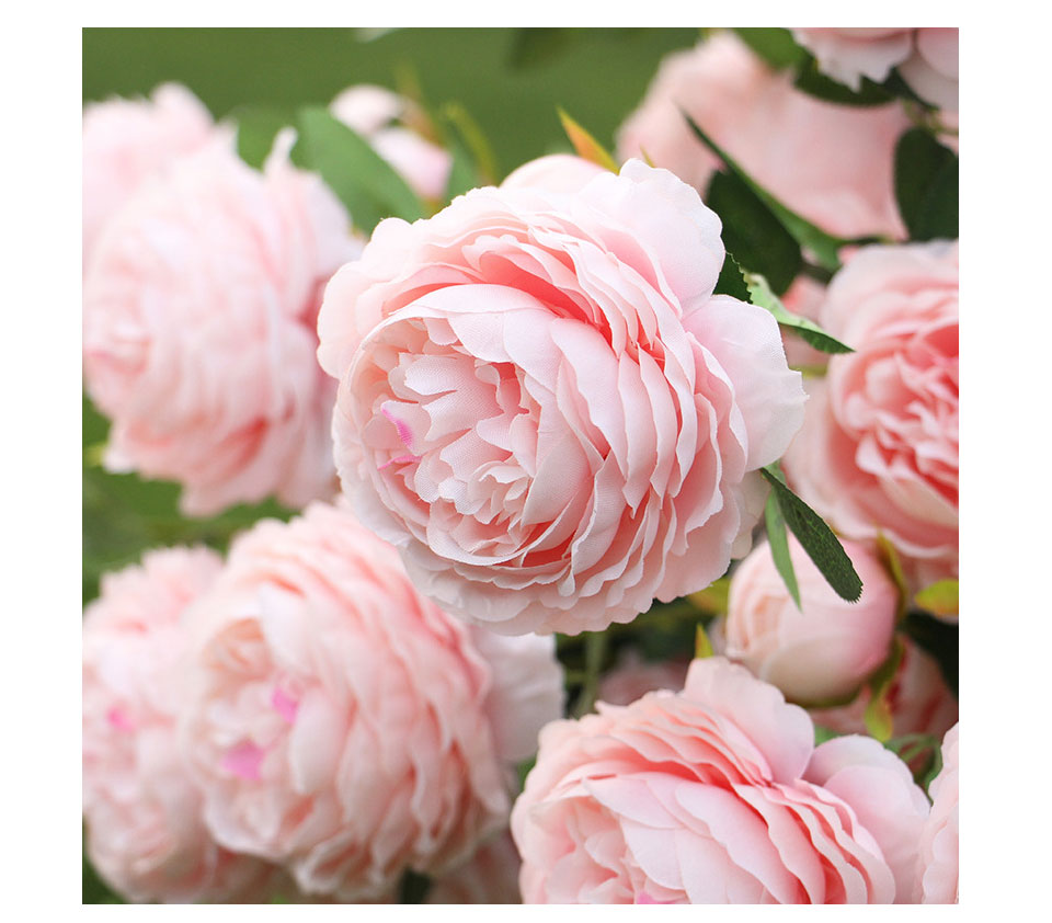 Artificial Flowers 3 Heads White Yellow Peonies Silk Flowers Peony Artificial Flower Wedding Decor for Home Peonies Color_09