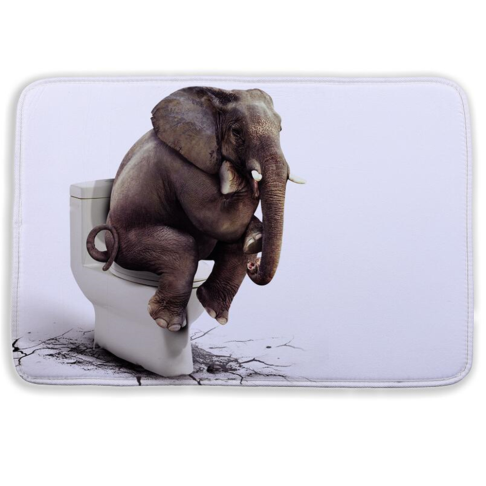 Fashion Cartoon Bath Mat Animal Elephant Lion Bathroom For Living Room Bedroom Floor Mats