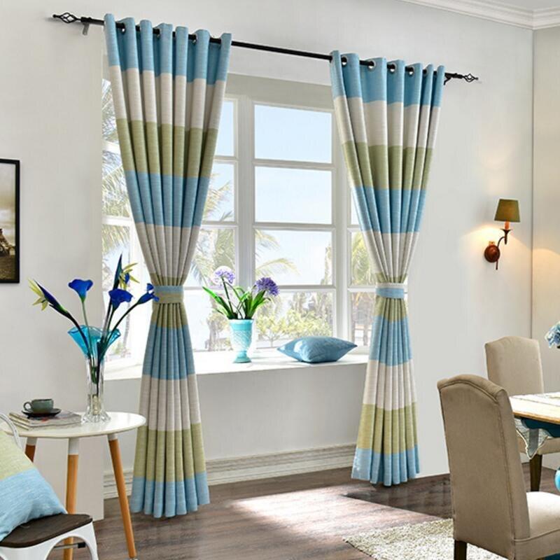 Aliexpress.com : Fringe Vorhang Horizontale Streifen Weiß Sheer Fenster Moderne  Wohnzimmer Vorhang Leinen Drapieren Stoffschirm Rideaux Jalousien X341 #30  ...