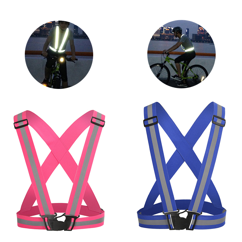 Hiking Vests Honesty Night Running Cycling Luminous Belt Jogging Safety Reflective Vest Adjustable Wrap Biking Belt Outdoor Sports Vest 35*5cm Night Preventing Hairs From Graying And Helpful To Retain Complexion