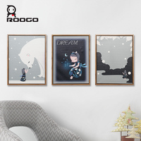 Roogo Painting By Numbers Dream Girl Wall Pictures For Living Room Nordic One Piece Poster Decorative Canvas Paintings Bedroom