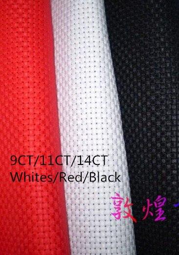 Gran opción 9CT O 11CT 14CT O Lienzo 150X50 cm Hacer Cualquier tamaño Tela Worldwide Aida Tela de punto de Blancos o de Color Rojo o Negro Cruz puntada