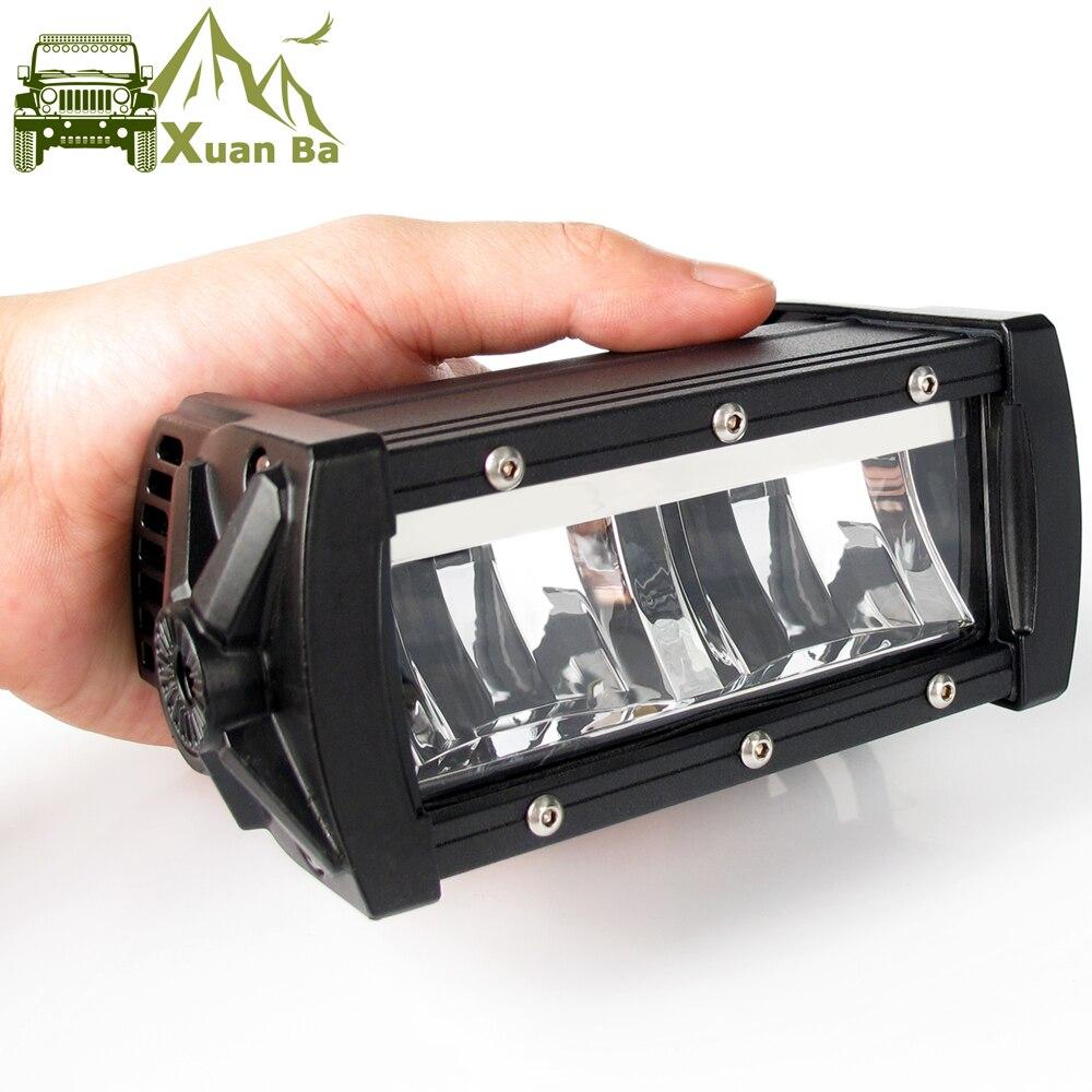 barra de luz led com lente unica 9d barra offroad para caminhao motocicleta e suv 12v