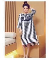 2018 New summer style Cotton loose Nightgown Nightdress pijama Ladies Sleepwear Women nightwear AE5