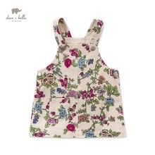 DB3698 davebella летние девочка flowerprinted платье детское платье детская одежда рождения платье новорожденных девочек костюмы