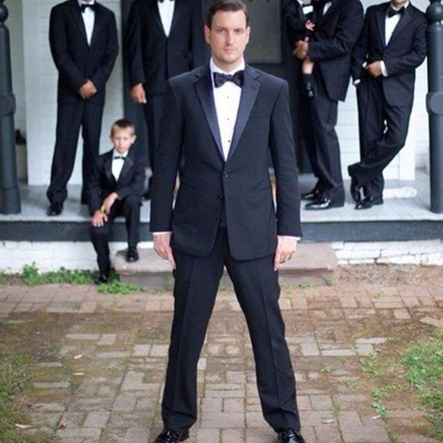 Notch Lapel Black Men Suits Blazer Elegant Grooms Best Man Wedding ...