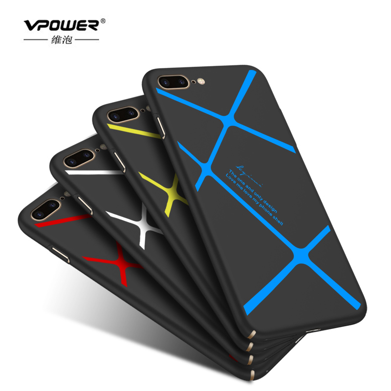 Vpower For iPhone 7 7 Plus case silky feel Protection hard shell shield Case For iPhone 6 6s / 6s plus case 360 full protection